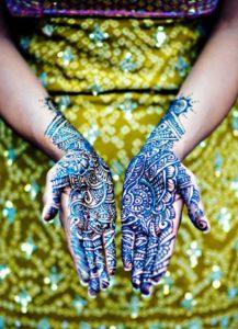 Blue Henna Mehndi